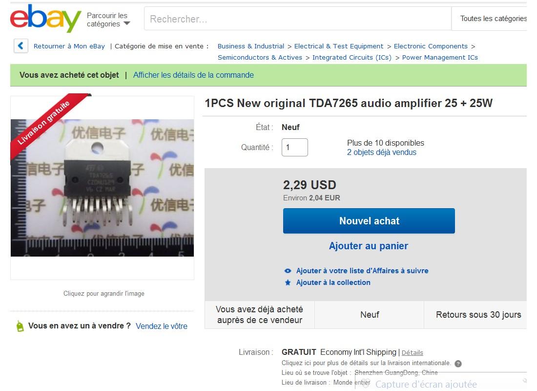 Tda7265 ebay